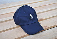 Мужская синяя кепка/бейсболка поло (Polo) реплика
