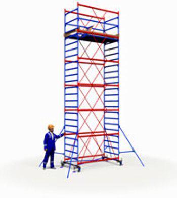 Вышка тура 1.7х0.8м (5+1) - 8,4м (рабочая высота) с домкратами