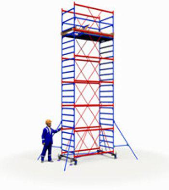 Вышка тура ПСРВ настил 1.7х0.8м комплект (5+1), рабочая высота 8,4м