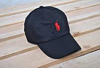 мужская черная кепка/бейсболка поло (Polo)