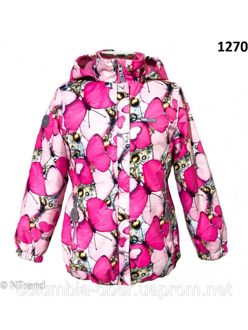 Куртка для девочек демисезонная LENNE POLKA 18225 - 1270. Размеры 104 - 134.
