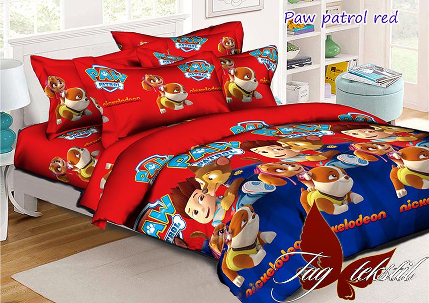 Комплект постельного белья для детей Paw Patrol red (ДП евро-088)