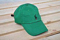 мужская зеленая  кепка/бейсболка поло (Polo), весна/лето