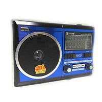 Портативная колонка MP3 USB Golon RX-277LSD Solar с солнечное панелью Blue