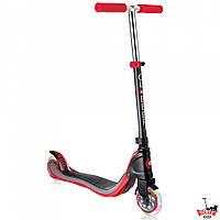 Самокат Globber My TOO FIX UP 125 со светящимися колесами Черно-Красный, фото 1