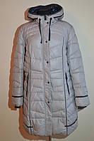 Зимнее женское пальто полупальто куртка больших размеров Mishele 8860 56 размер
