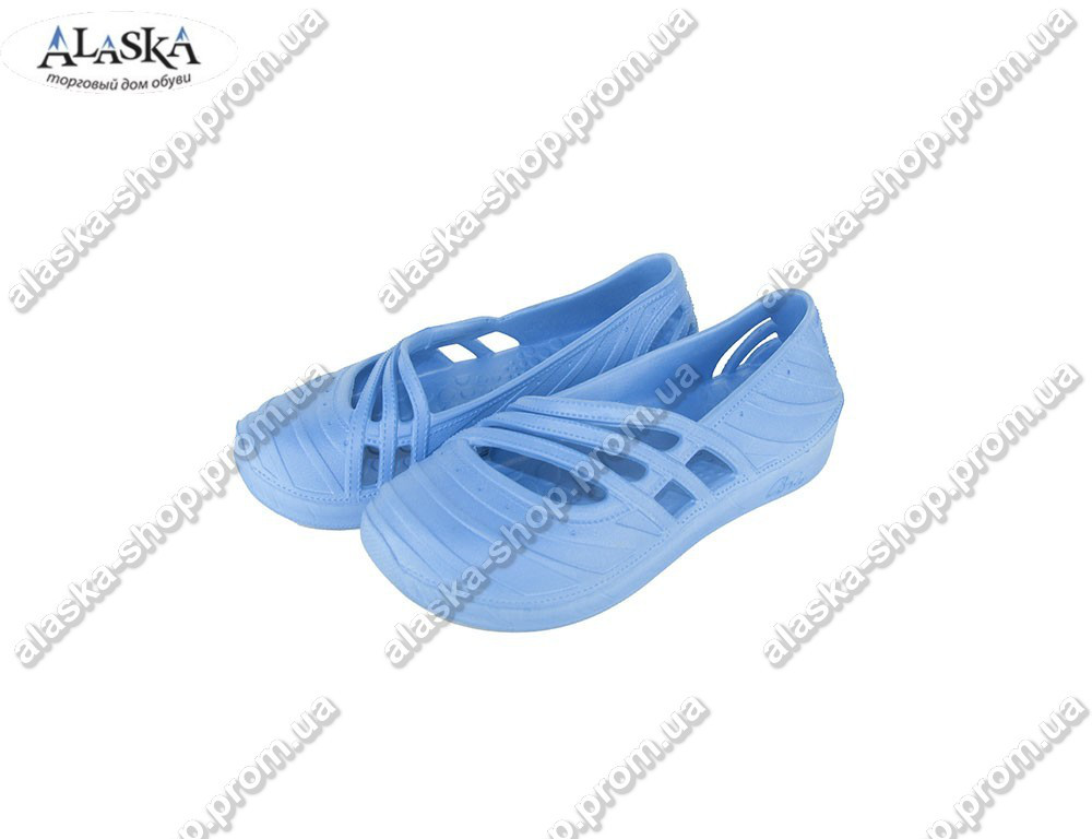 Женские шлепки лодочки (Код: ЛШ-02 голубые )