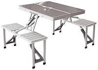 Cтол для кемпинга + 4 стула комплект, чемодан. 136х86х67 см