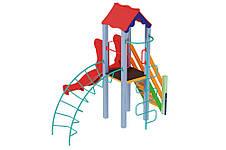 """Детский игровой комплекс """"Петушок с пластиковой горкой"""", 1,2 м, фото 3"""