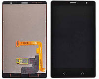 Дисплей для Nokia X2 Dual Sim (RM-1013) + сенсорное стекло, черный, оригинал