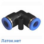 Соединитель угловой для пластиковых трубок 6 мм PUL 06 Sumake