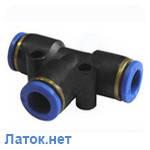Соединитель тройной для пластиковых трубок 4 мм PUT 04 Sumake