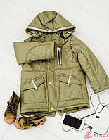 Демисезонная куртка-парка на мальчика