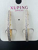 507 Серёжки. Позолоченная бижутерия Xuping. Серьги позолоченные оптом.