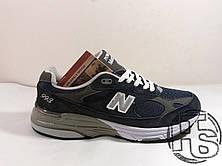 Мужские кроссовки New Balance 993 USA Blue WR993NV. Любимые кроссовки Джобса, фото 2