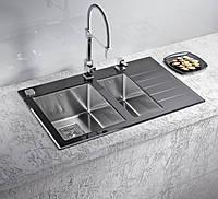 Кухонная мойка Alveus Crystalix 20R black I 86*54