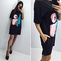 Женское летнее платье оптом Женщина-кошка Чёрный