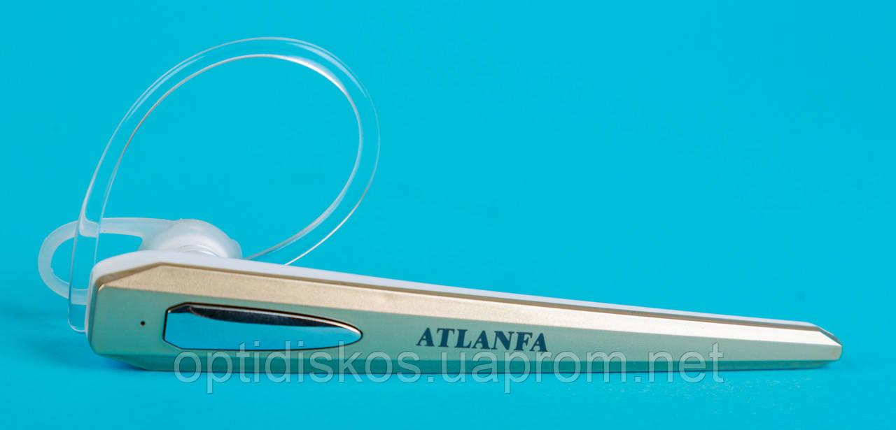 Беспроводная bluetooth гарнитура + наушник, Atlanfa AT-H8, золотистая
