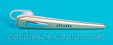 Беспроводная bluetooth гарнитура + наушник, Atlanfa AT-H8, золотистая, фото 2