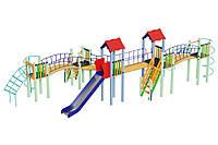 Детский игровой комплекс Змейка, высота горки 1,5 м