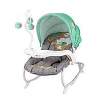 Детский шезлонг-качалка Bertoni Dream Time Green&Grey Snail