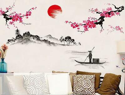 """Наклейка на стену, виниловые наклейки """"Цветущая сакура - Япония!"""" 1м20см*1м50см (лист90*60см)"""