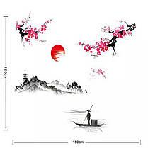 """Наклейка на стену, виниловые наклейки """"Цветущая сакура - Япония!"""" 1м20см*1м50см (лист90*60см), фото 3"""