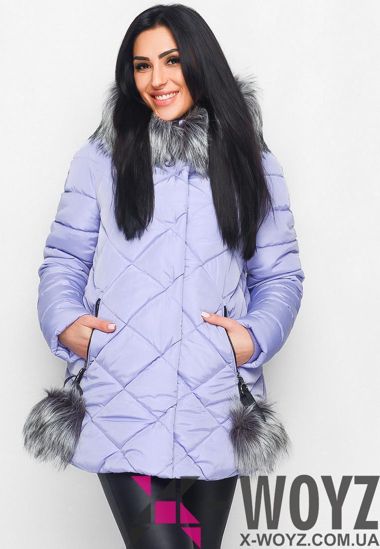 Зимняя куртка LS-8744-23, (Сиреневый)