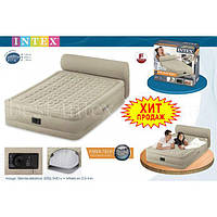 Intex 64460 (152-229-79 см)  Велюр кровать со встроенным насосом,
