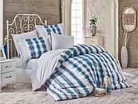 Постельное белье Hobby Poplin Debora голубой Двуспальный евро комплект