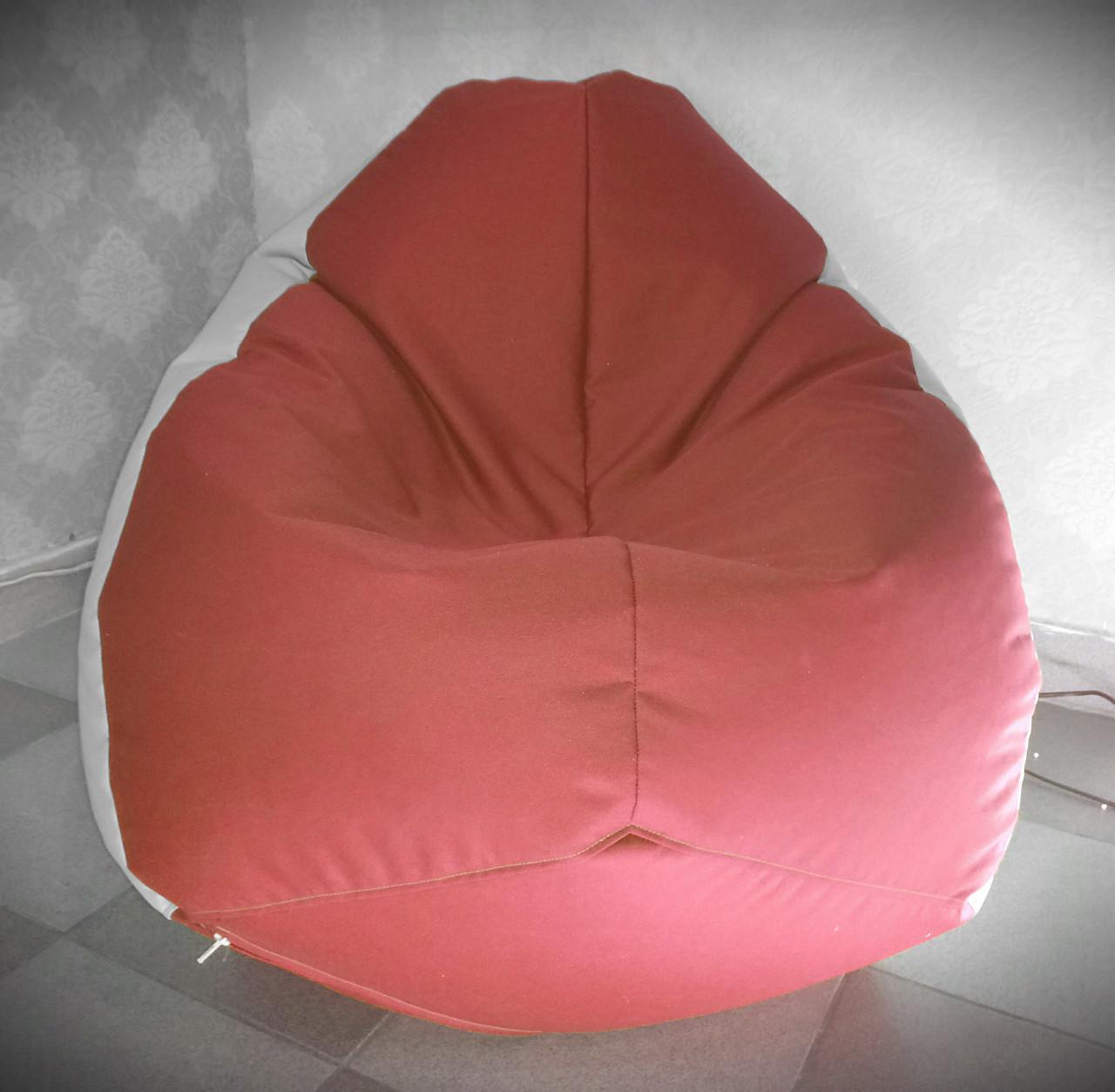 Кресло Груша XXL красного цвета