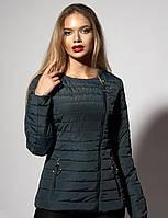 Модная курточка с круглым вырезом