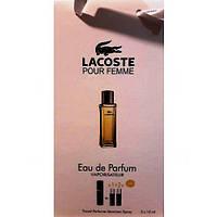 Парфюмированная вода с феромонами Lacoste Pour Femme 3х15 мл
