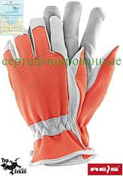 Рукавички захисні з високоякісної козей шкіри (рукавички шкіряні робочі REIS) RDRIVER PW