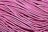 Резинка круглая, шляпная 2.5мм, (50м) розовый + белый