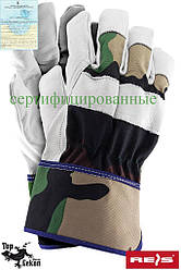 Рукавички захисні з високоякісної волової шкіри (рукавички шкіряні робочі) RFORESTER MOW