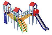 Детский игровой комплекс Три мушкетера, высота горки 1,5 м