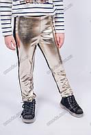 Модные детские лосины золотые