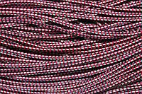 Резинка круглая, шляпная 2.5мм, (50м) синй+красный+белый
