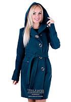 Женское демисезонное кашемировое пальто Алиса изумруд V-g