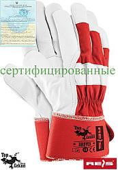 Рукавички укріплені шкірою робочі REIS Польща RHIPPER CW