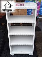 """Пластиковая этажерка на 5 полок """"Ротанг"""" (светло-серая)"""