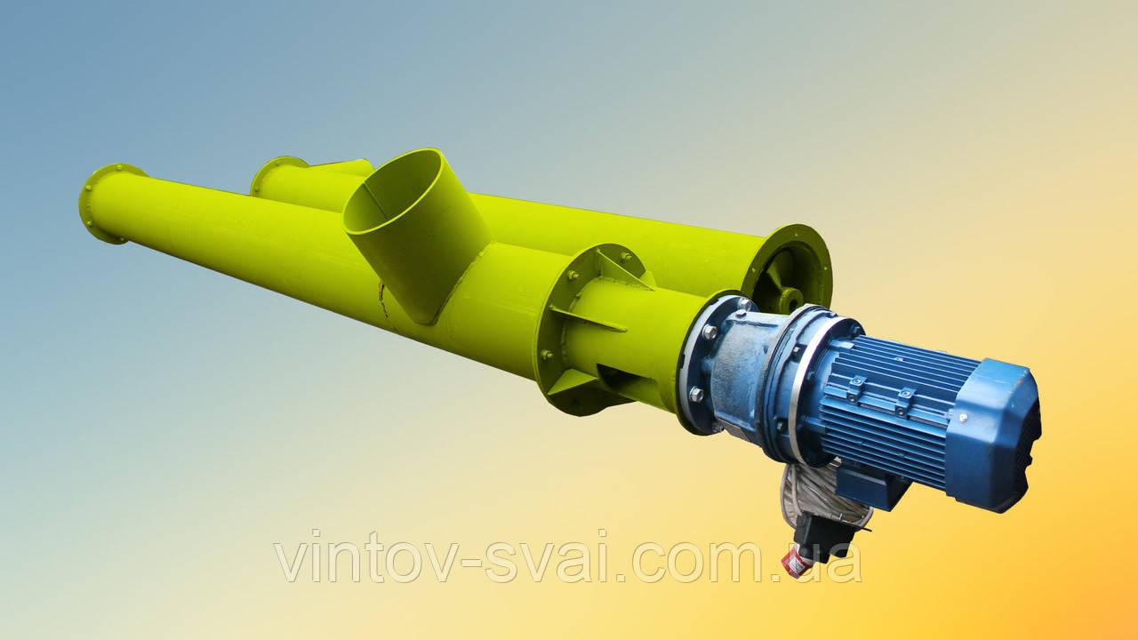 Погрузчик для цемента Ø220*11000 до 16 тонн в час.