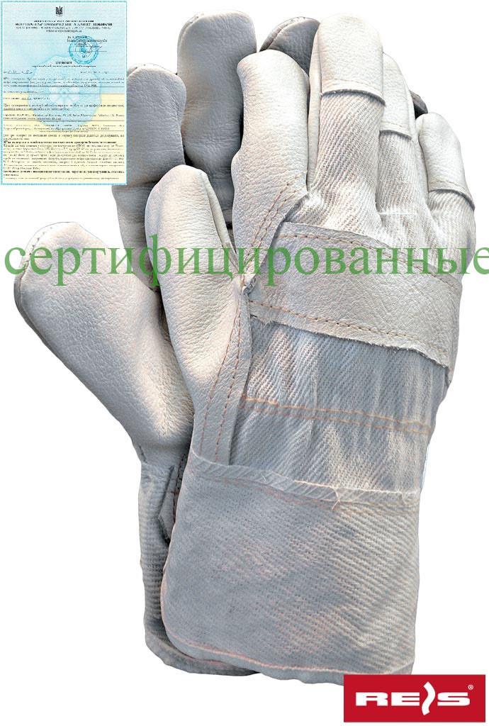 Перчатки рабочие усиленные яловой кожей перчатки REIS Польша RLCJ WJK