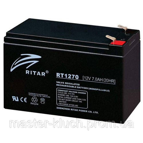 Аккумулятор Ritar  RT1270 black 12V 7.0Ah AGM