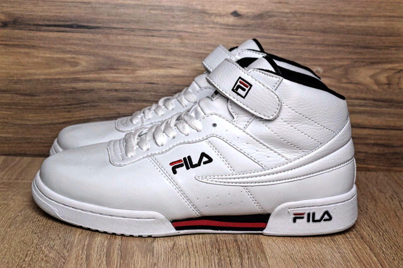 4ef633ac Мужские кроссовки Fila Original Fitness Premium белые высокие 1374 45  размера - Компания