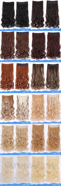 Волосы на заколках Накладная прядь ТЕРМОСТОЙКИЕ волосы блондин светлый натуральный тресс на заколках