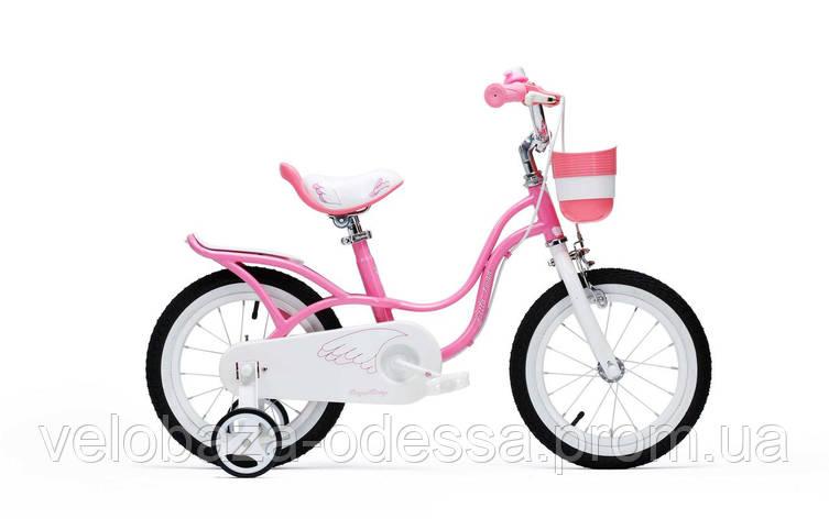 "Велосипед RoyalBaby LITTLE SWAN 16"", розовый, фото 2"