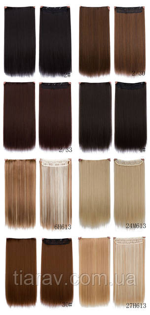 Волосы на заколках Накладные волосы ТЕРМОСТОЙКИЕ волосы блондин русый шатен