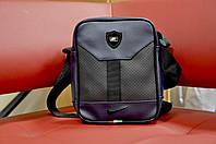Мужская сумка/барсетка/мессенджер  найк/Nike, синяя